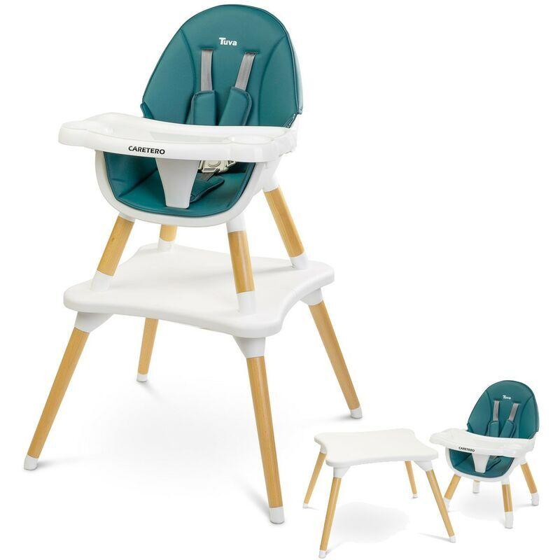 CARETERO TUVA Chaise haute évolutive en table et chaise Vert - Vert