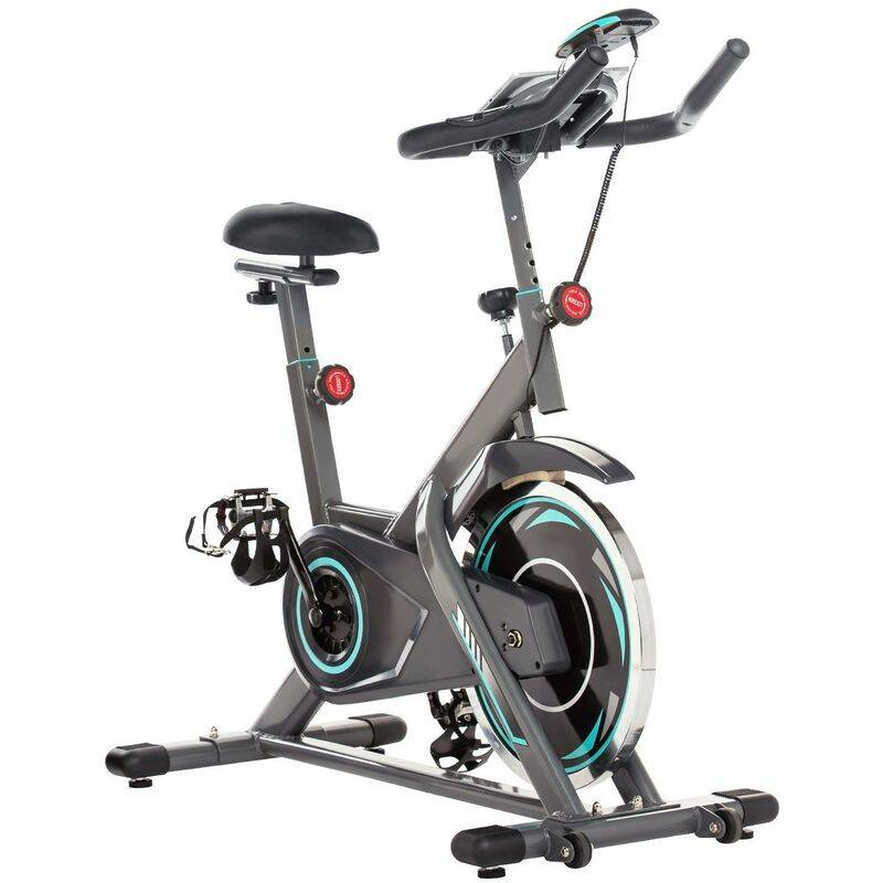 BETTER MAISON Vélo d'appartement d'intérieur à vélo Fitness avec siège réglable gris - Gris