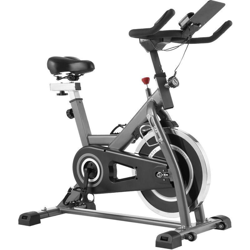 BETTER MAISON Vélo d'appartement pour Fitness et Entrainement à domicile, vélo d'Intérieur pour Exercice avec APP Argent - Noir