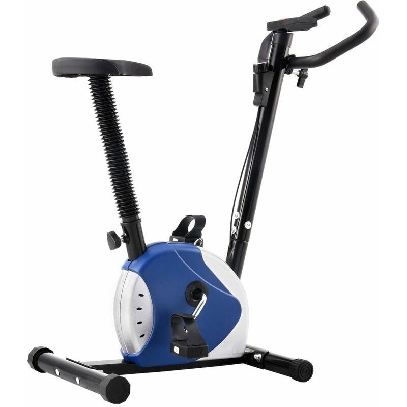 BETTERLIFE Vélo d'appartement avec résistance à courroie Bleu10527-A