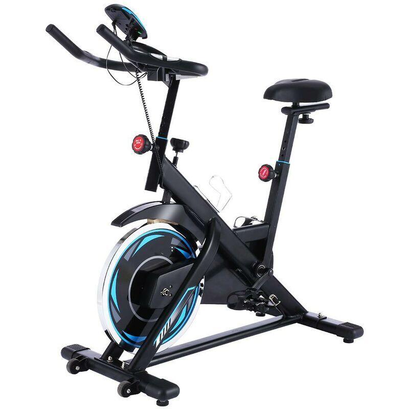 BETTER MAISON Vélo d'appartement d'intérieur à vélo Fitness avec siège réglable noir - Noir