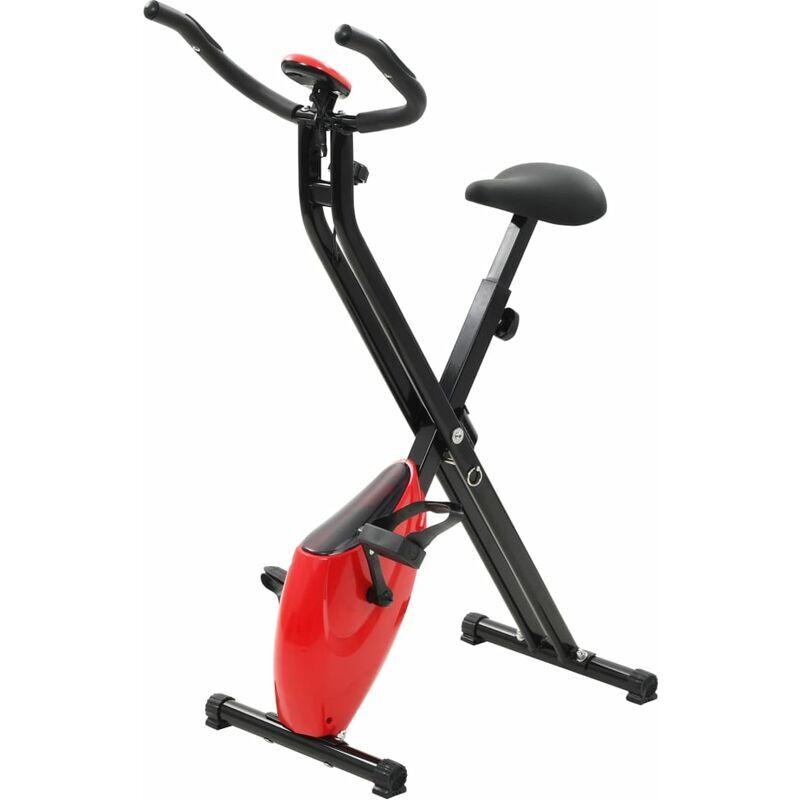 YOUTHUP Vélo d'appartement magnétique et mesure du pouls Noir et rouge