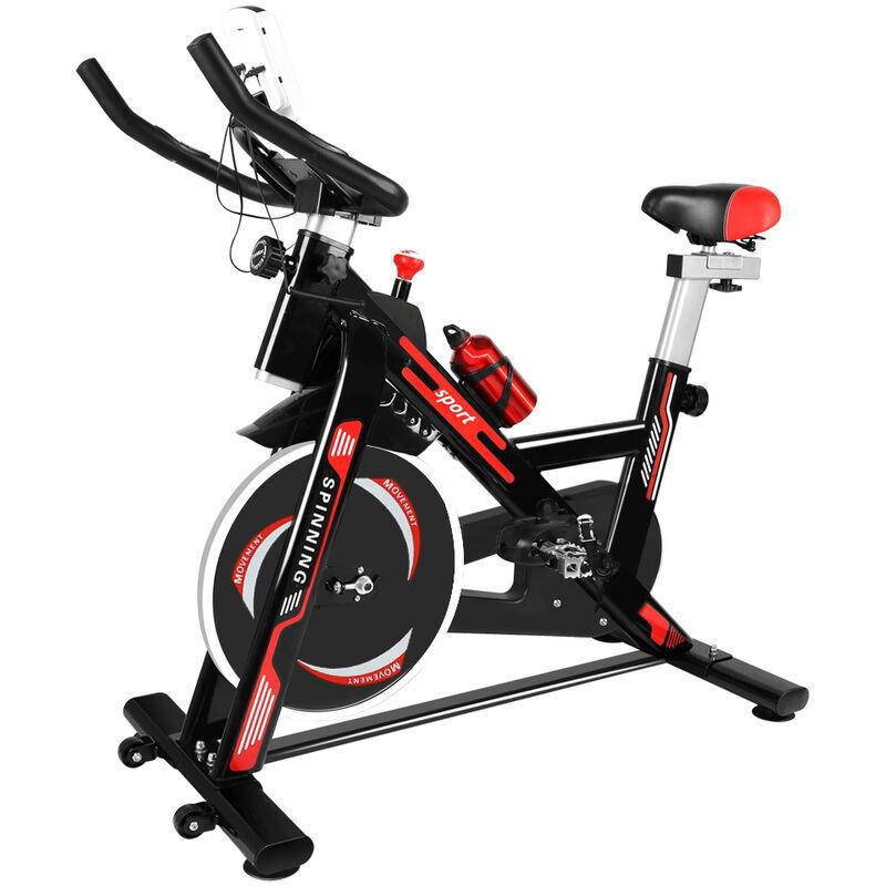 BIGZZIA Vélo d'appartement - Niveaux de résistance réglables - Vélo d'Exercice d'Intérieur Cyclisme Vélo Maison Entraînement Gym