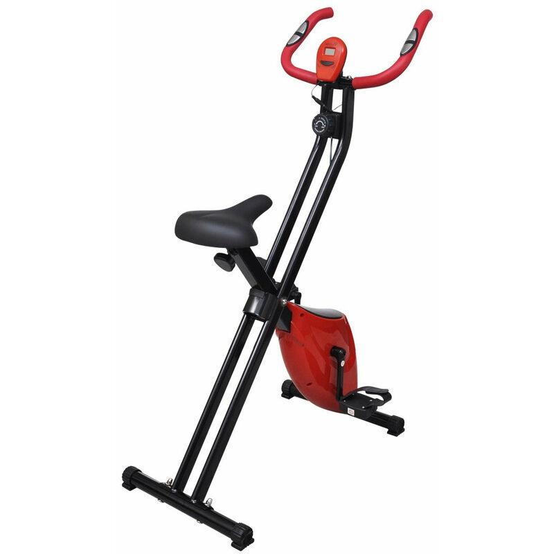 HELLOSHOP26 Vélo d'appartement pliable magnétique rouge et noir Xbike sport fitness musculation - Noir