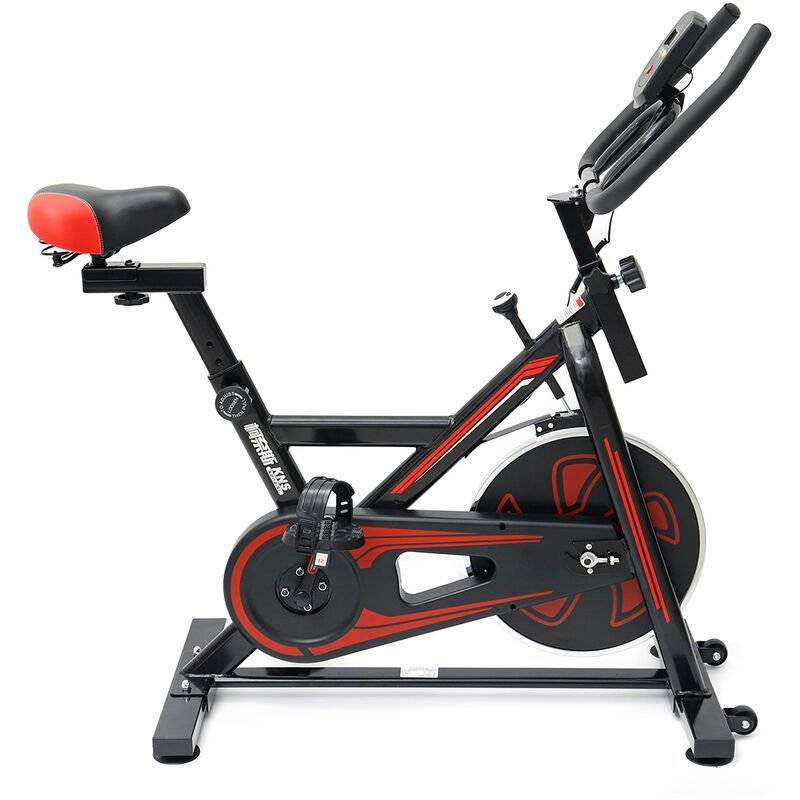 AUGIENB Vélo d'appartement - Vélo biking - magnetique intérieur maison bureau exercice entrainement 150kg + moniteur et support de téléphone