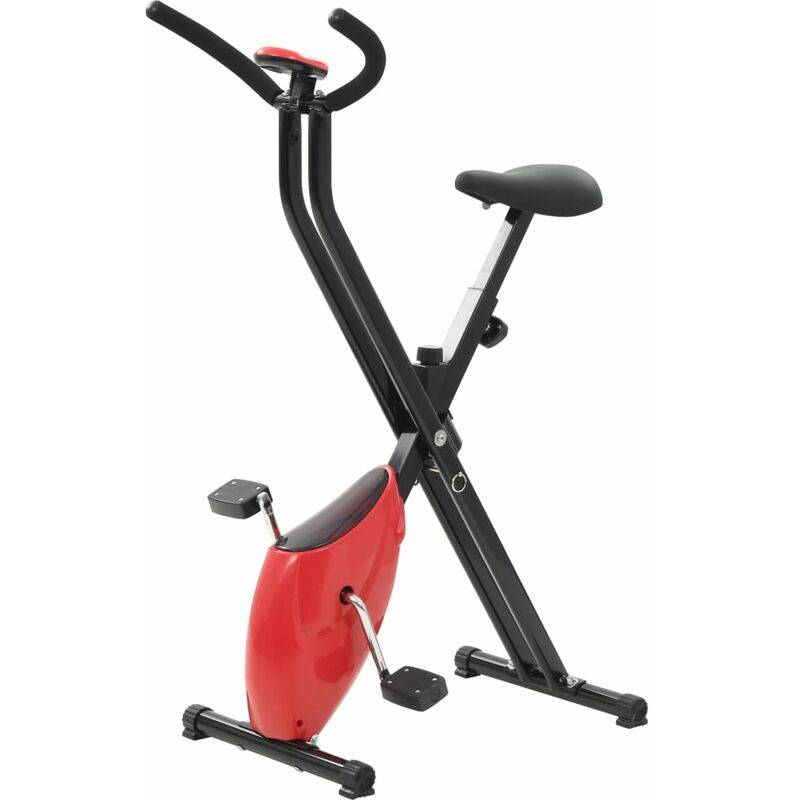ASUPERMALL Velo d'appartement X-Bike Resistance a courroie Rouge