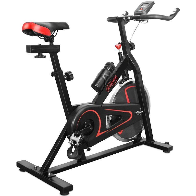 HELLOSHOP26 Vélo d'appartement avec écran pulsomètre volant d'inertie de 10 kg selle guidon et résistance réglables vélo d'exercice de fitness d'intérieur