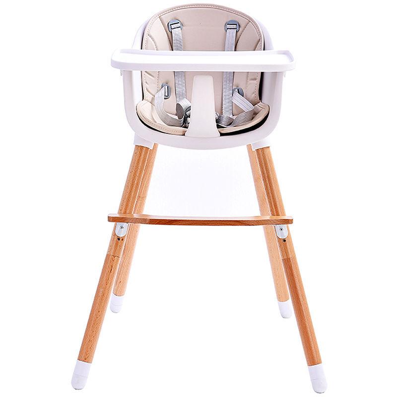 BATHRINS Baby Vivo Chaise haute Bébé 2 en 1 réglable pour Enfant avec Tablette Amovible de 6 Mois à 3 Ans - Lani en Beige