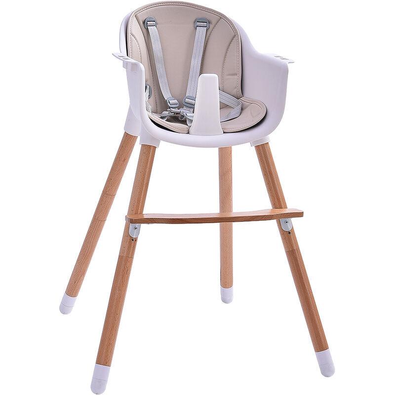 WYCTIN ®Baby Vivo Chaise haute Bébé 2 en 1 réglable pour Enfant avec Tablette Amovible de 6 Mois à 3 Ans - Lani en Beige - Wyctin
