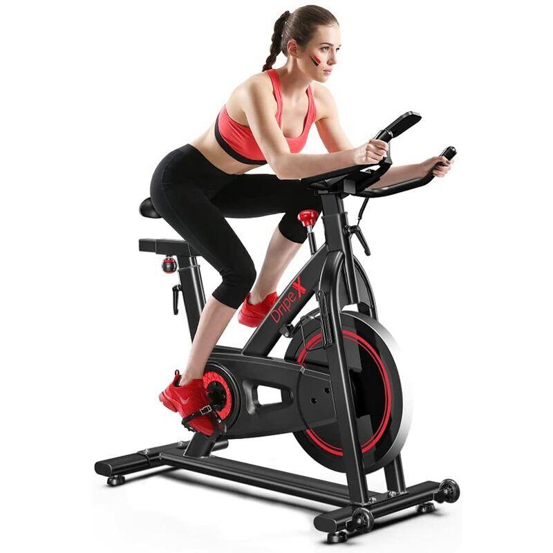 YOLEO Vélo d'Appartement Vélo Spinning Appareil Fitness Silencieux avec Capteur Cardiaque, LCD écran, résistance réglable pour la Maison