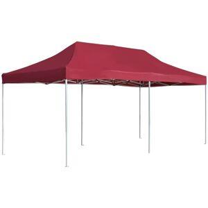VIDAXL Tente de Réception Pliable Professionnelle Aluminium Bordeaux 6x3 m - Publicité