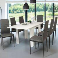 IDMARKET Table à manger extensible DONA 6-8 personnes blanche 80-160 cm <br /><b>84.99 EUR</b> ManoMano