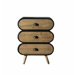 INSIDE75 Chevet industriel KLAUS PM 3 tiroirs - noir - Publicité