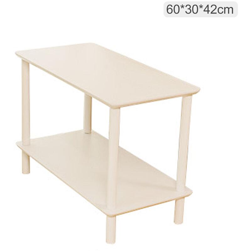 ASUPERMALL 2-Tier End Table Basse Table D'Appoint Table De Chevet Avec Open Wood Design Grain Motif Home Decor Meubles Pour Salon Chambre Balcon 60 * 30 * 42Cm,