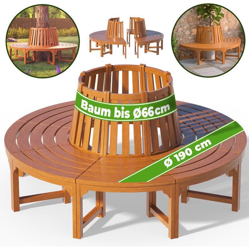 DEUBA Banc de jardin rond Ø 190cm en bois d''eucalyptus Certifié FSC®