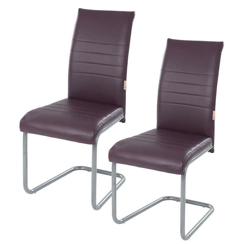 Estexo - Chaise de salle à manger en porte-à-faux2x chaises de cuisine simili cuir Lila