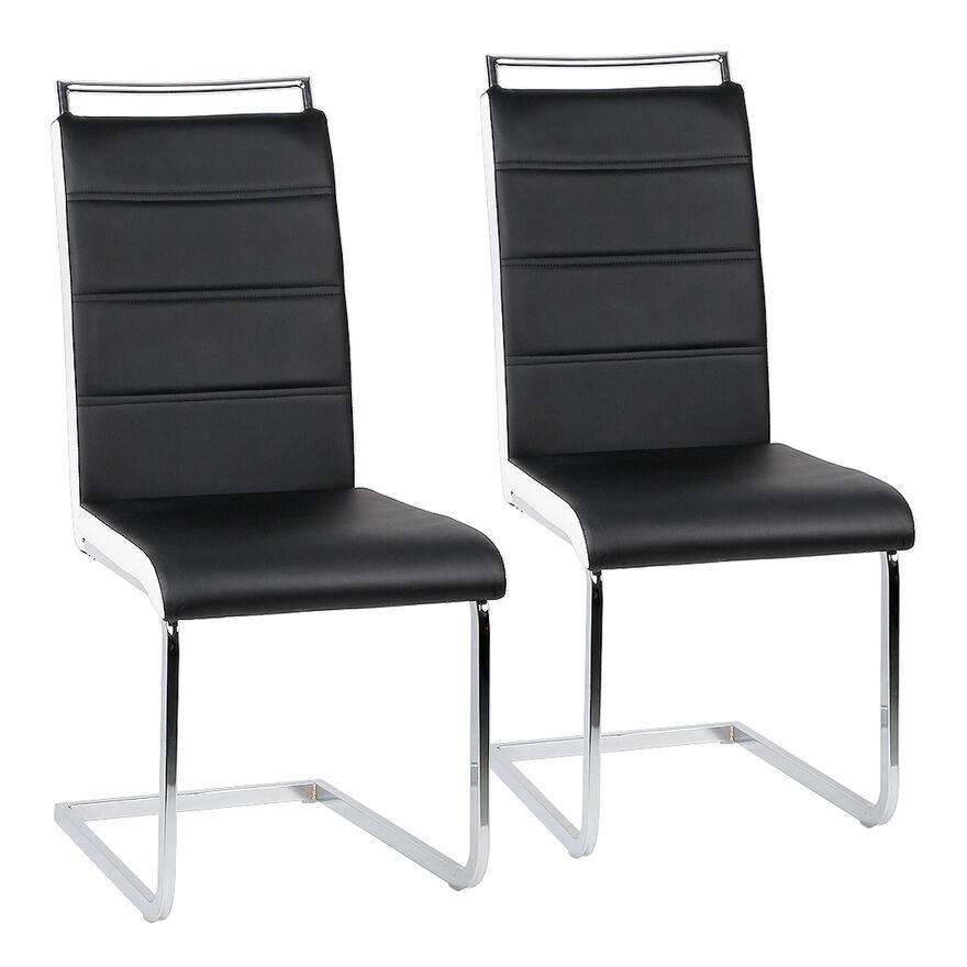 JEOBEST Ensemble de 2 chaises en porte-à-faux de chaise de salle à manger chaise chaise rembourrée chaise berçante couleur envoyée au hasard