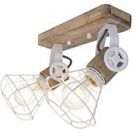 ANNE LIGHT & HOME Applique rétro éclairage du salon lampe de cage à bois spot réglable 1579W <br /><b>97.64 EUR</b> ManoMano