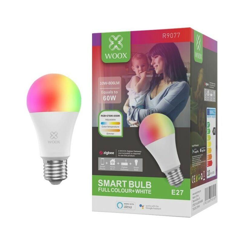WOOX Ampoule connectée Zigbee E27 RGB compatible Amazon Alexa et Google Assistant - WOOX