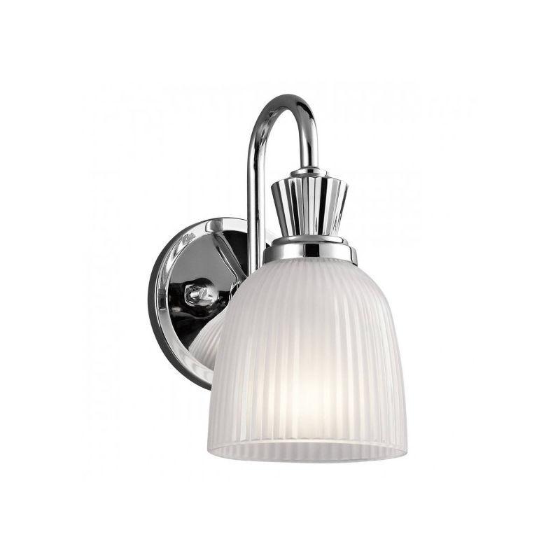 ELSTEAD Applique Cora, chrome poli, verre, LED