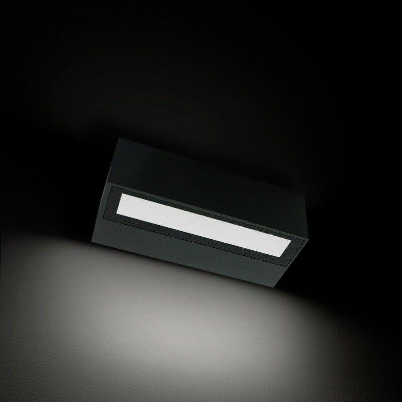 BYLED®-PRODUITS EN PROMOTION Applique pour LED murale étanche IP54 et rectangulaire - 6W - 230V (kriss 06)   Température de couleur Blanc Chaud - Finition Anthracite - Puissance