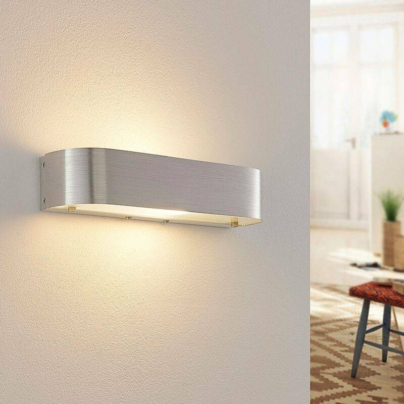 LINDBY LED Applique Murale 'Nika' en métal pour chambre à coucher
