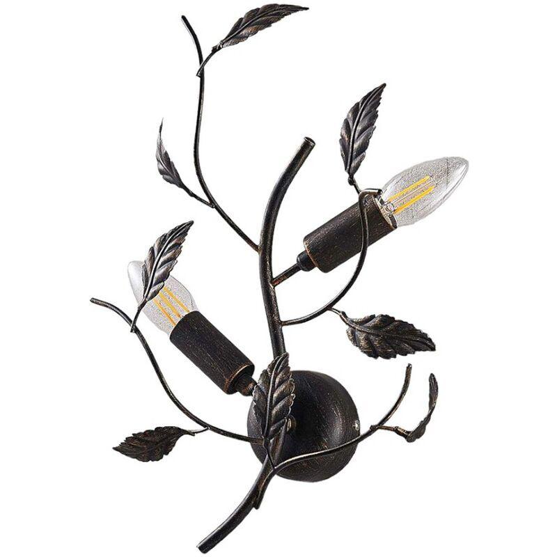 LINDBY Applique Murale à intensité variable 'Yos' en métal pour chambre à coucher