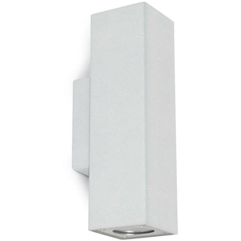 NOVOLUX Appliquer PIERRE IP65 GU10 2x12W Béton blanc CRISTHER 965A-G21X1A-NW