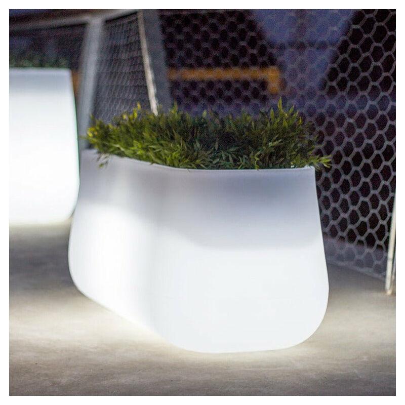 MOOVERE Bac à fleurs Large Lumineux Solaire+Batterie rechargeable - Moovere
