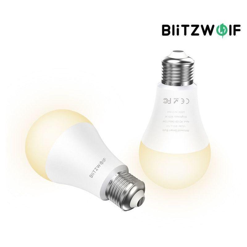 MOHOO BlitzWolf BW-LT21 3000K + RGB Smart Wifi LED Lampes Smart Bulb avec APP Remote Control Support pour Amazon pour Echo pour Google Home