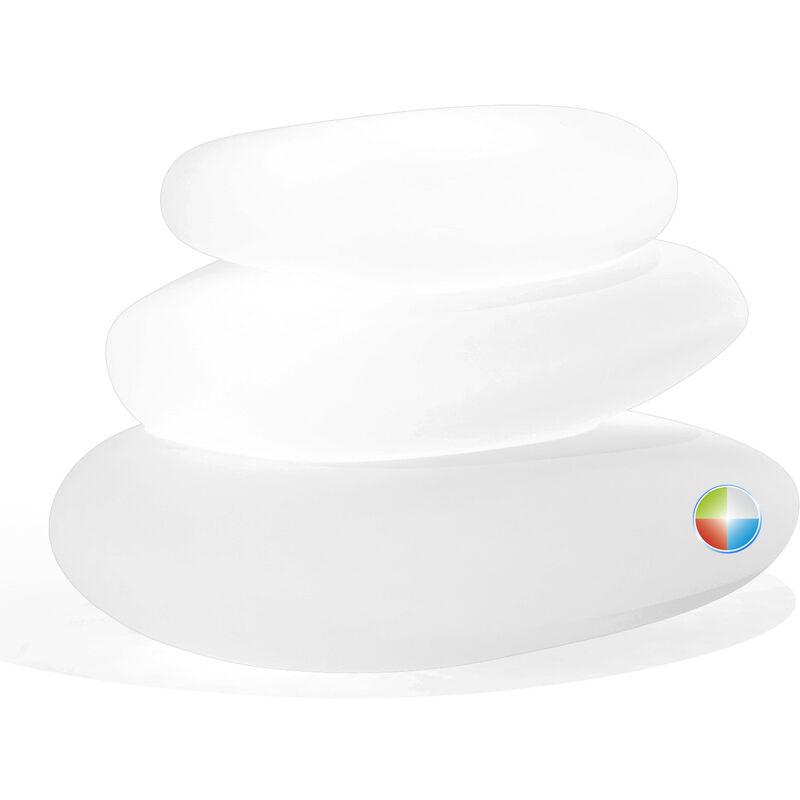 Idralite - Lampe à poser de jardin en résine mod. Eden 75X62X47 h led multicolor avec batterie
