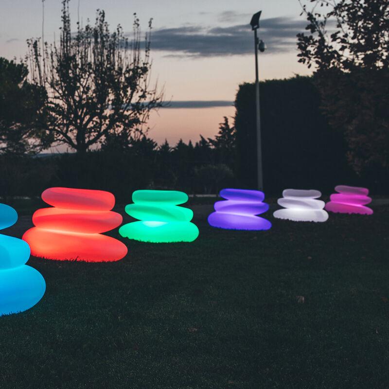 Idralite - Lampe à poser de jardin en résine mod. Eden 75X62X47 h led multicolor avec cable