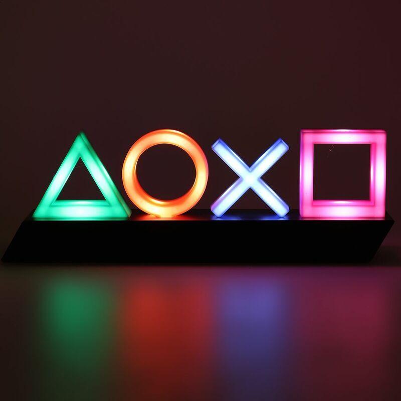 MOHOO Contr?le vocal jeu ic?ne lumière acrylique atmosphère néon dimmable Bar atmosphère Lampara Club KTV lumière décorative livraison directe