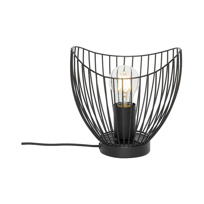 QAZQA pua - Lampe de table Moderne - 1 lumière - Ø 20 cm - Noir - Design,Moderne - Éclairage intérieur - Salon   Chambre   Cuisine   Salle à manger