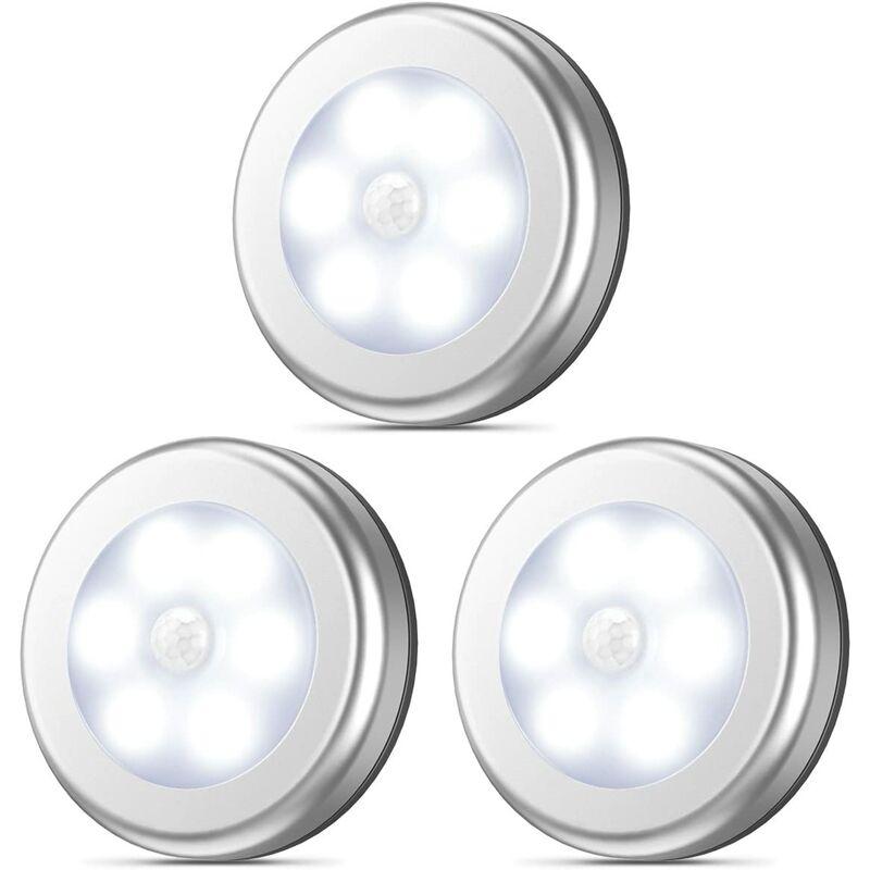 Briday - Détecteur de mouvement, Veilleuse LED sans fil sans fil Stick-Anywhere, éclairage de placard, éclairage d'escalier, éclairage de robinet,