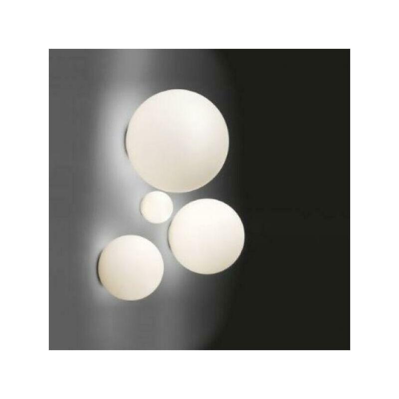 Artemide Dioscuri lampe murale et location petite lampe e14 diametre 14cm verre soffie' et polycharbonate couleur blanc 1039110a