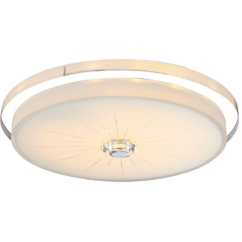 Globo Plafonnier LED 30 watts rond verre clair éclairage acrylique lampe à économie d'énergie Globo 49305-30