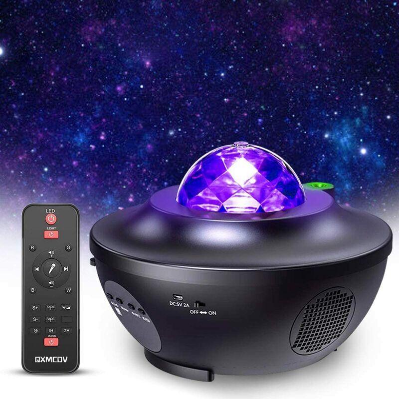 THSINDE ?Facile à utiliser?Lampe Projecteur LED Étoile, Projecteur de Veilleuse Rotatif avec 21 Modes & Télécommande & Timer & Enceinte & Bluetooth.