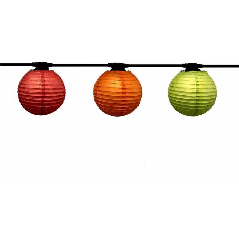Atelier De La Guirlande - Guirlande Lanternes Japonaises 24m, Ampoules E27 fournies, Trendy, 48W, 48 x 80 lumens, 3000K, IP44, Classe II