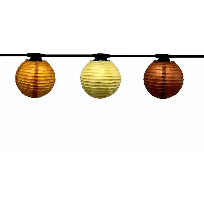 ATELIER DE LA GUIRLANDE Guirlande Lanternes Japonaises 48m, Ampoules E27 fournies, Ethnique, 96W, 96 x 80 lumens, 3000K, IP44, Classe II
