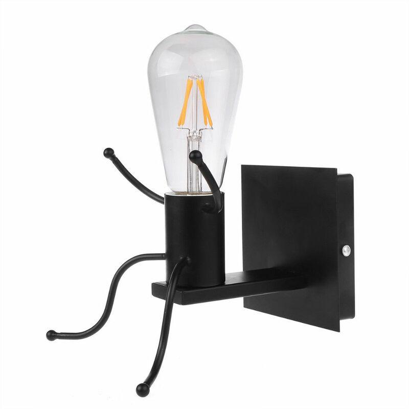 IDEGU Créatif Applique Murale Intérieur Vintage Lampe Murale Rétro Lampe de Mur Métal Art Déco Luminaire E27 pour Salon, Chambre à Coucher, Salle de Bain,