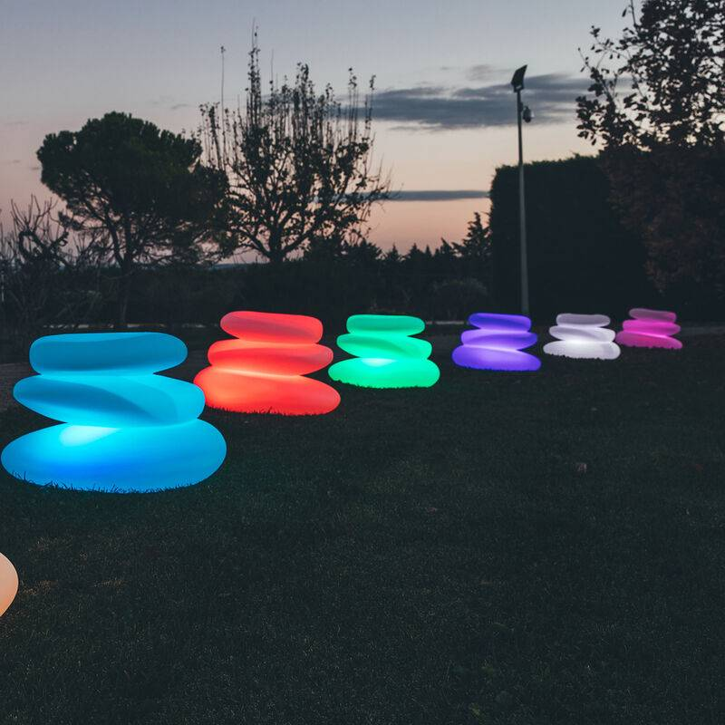 Idralite - Lampada Eden luce verde in resina 75x62 cm