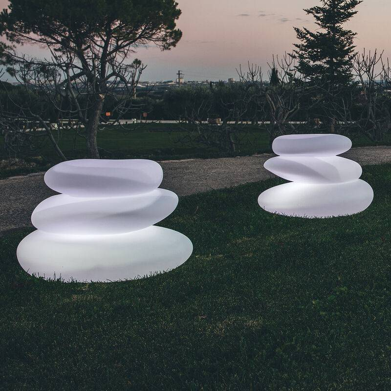 Idralite - Lampada Eden luce bianca in resina 75x62 cm