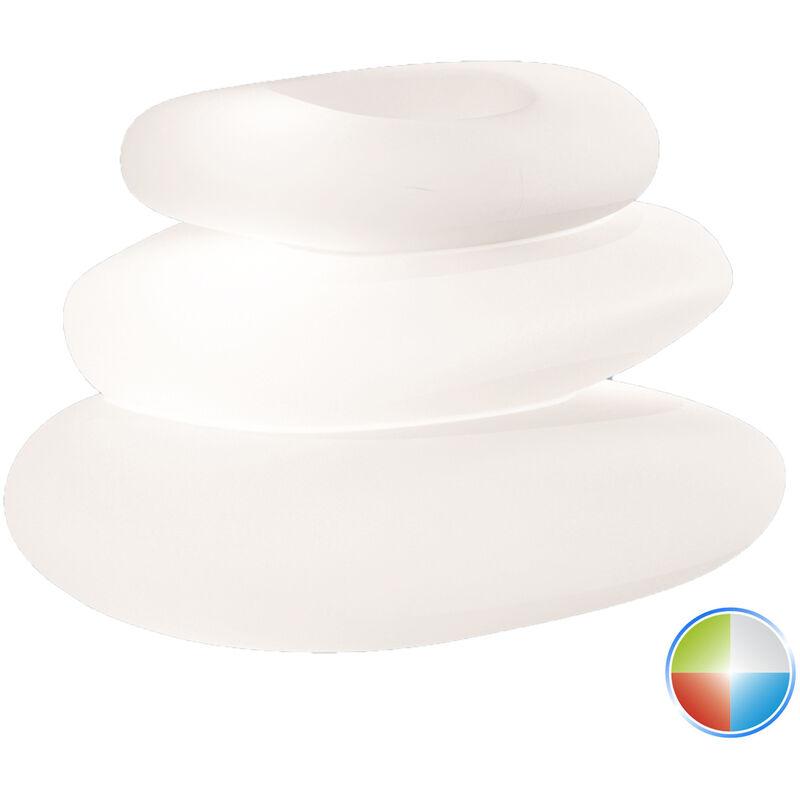 IDRALITE Pot de fleurs lampe à poser de jardin en résine 75X62X47 h mod. Eden led multicolor avec cable