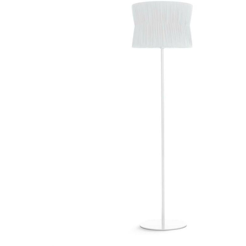 NOVOLUX Lampadaire CORA E27 60W Blanc Bordure blanche EXO 859B-G05X1A-01-RA