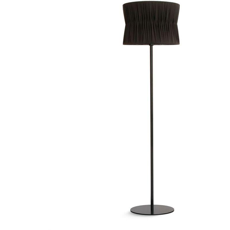 NOVOLUX Lampadaire CORA E27 60W Noir Bordure noire EXO 859B-G05X1A-02-RB