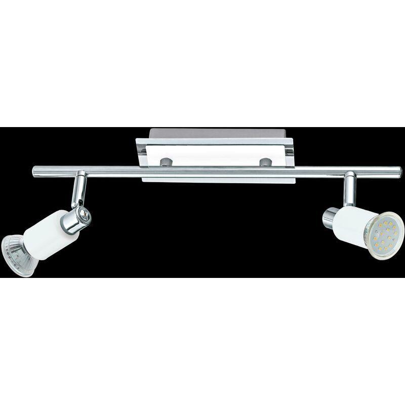 EGLO Lampe de location eridan 2 x 5 w gu 10 in metal color chrome, lucide blanc 90833