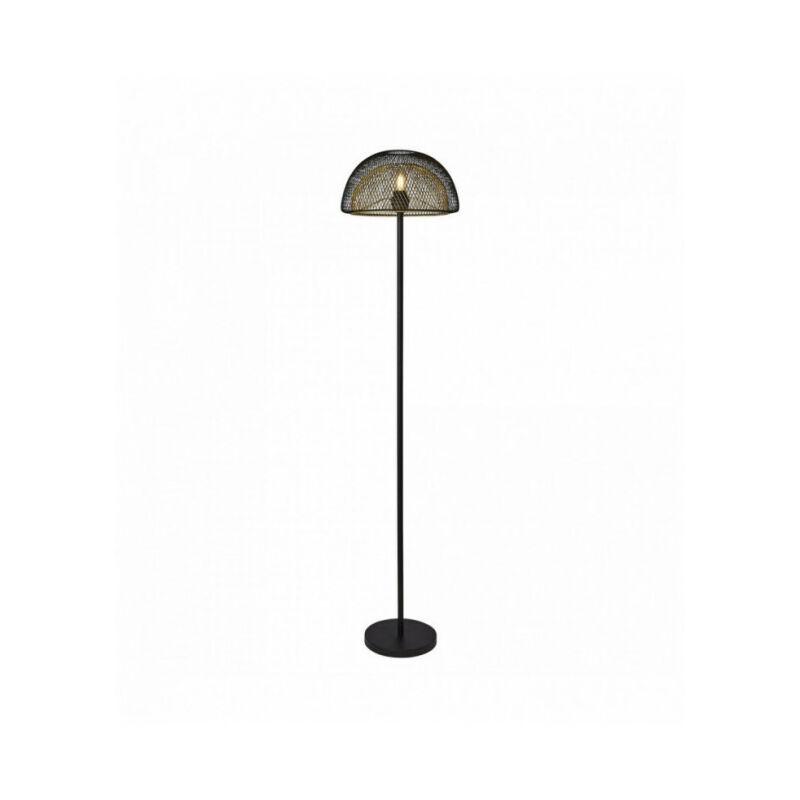 SEARCHLIGHT Lampadaire en maille 1 ampoule en nid d'abeille - extérieur noir avec intérieur doré