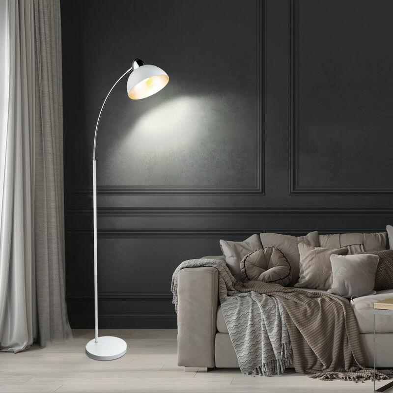 ETC-SHOP Lampadaire en arc pour chambre à coucher Lampadaire en feuille d'argent mobile dans un ensemble comprenant des ampoules LED