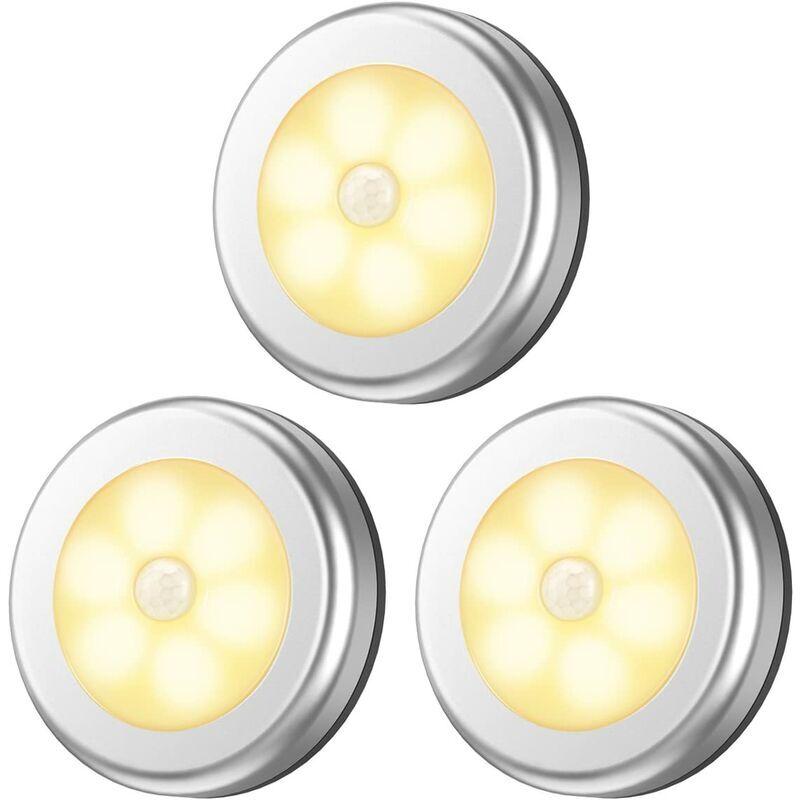Briday - Lampe à détecteur de mouvement améliorée, veilleuse à DEL sans fil alimentée par batterie, lumières de placard, lumières d'escalier,